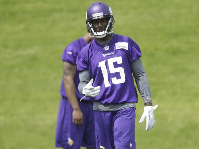 Minnesota Vikings wide receiver Greg Jennings during a practice session on June 20, 2013