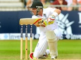 Ian Bell plays a shot on day three of The Ashes at Trent Bridge.