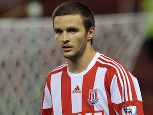 Stoke City's Jamie Ness in action on August 28, 2012