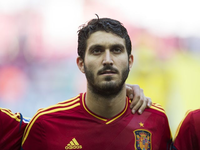 Spain's Jose Campana poses before the Under-20 World Cup round of sixteen soccer match between Spain and Mexico on July 2, 2013