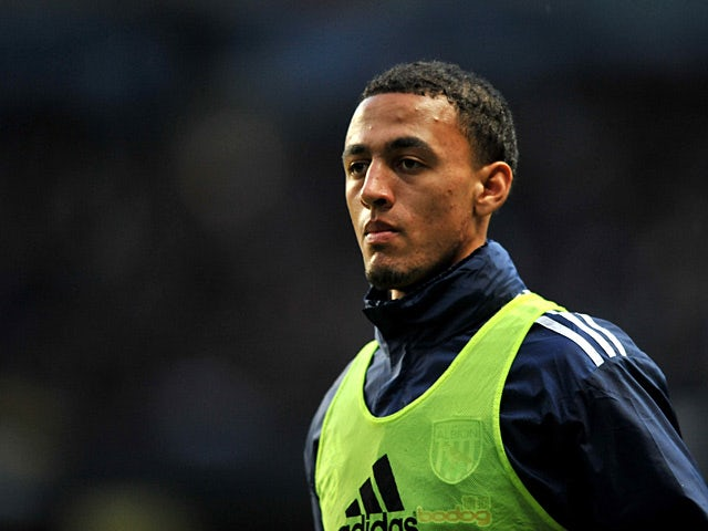 West Brom's Kemar Roofe during a warm up on April 11, 2012