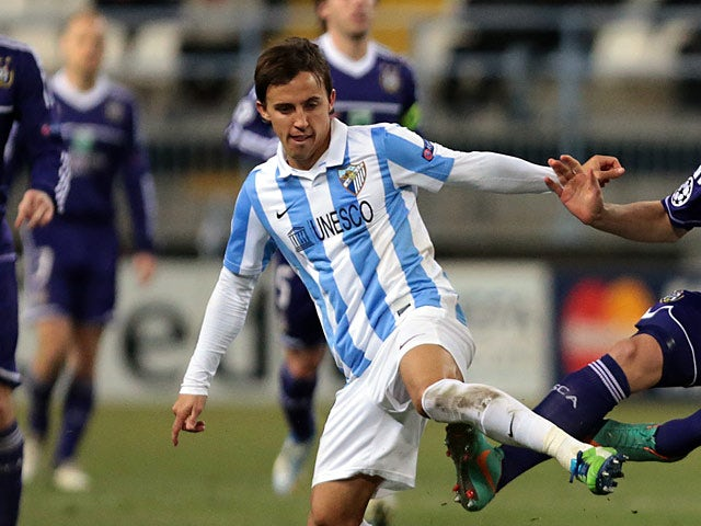 Malaga's Diego Buonanotte in action on December 4, 2012