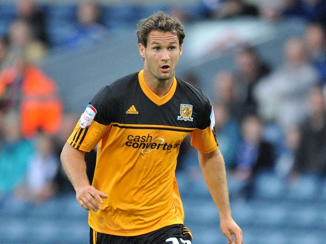 Hull City's Nick Proschwitz during the Championship match against Blackburn Rovers on August 22, 2012