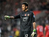 Southampton goalkeeper Paulo Gazzaniga during their Premier League match against Swansea City on November 10, 2012