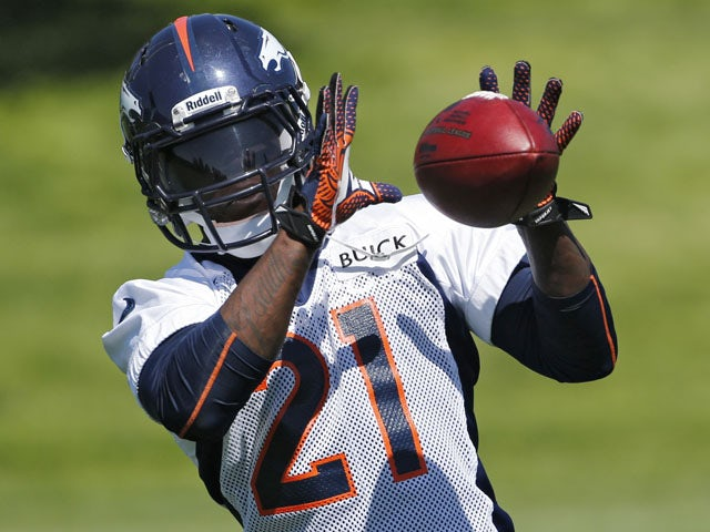 Denver Broncos running back Ronnie Hillman catches a pass during off season training camp on June 6, 2013