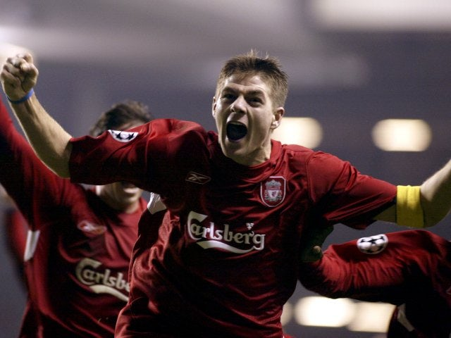 Arguably one his best goals was scored in 2004 against Olympiakos, which saw Liverpool progress to the knockout stages of the Champions League.