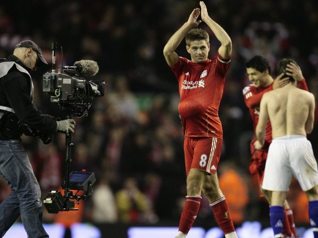 On what was his 400th appearance for Liverpool, Gerrard netted a hat-trick in the Merseyside derby in March 2012.