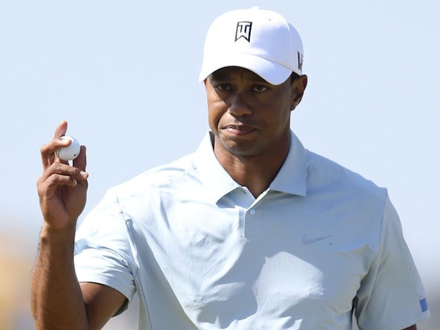 Tiger Woods reacts after a putt at The Open on July 19, 2013
