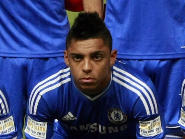Chelsea's Wallace before a pre-season game on July 18, 2013