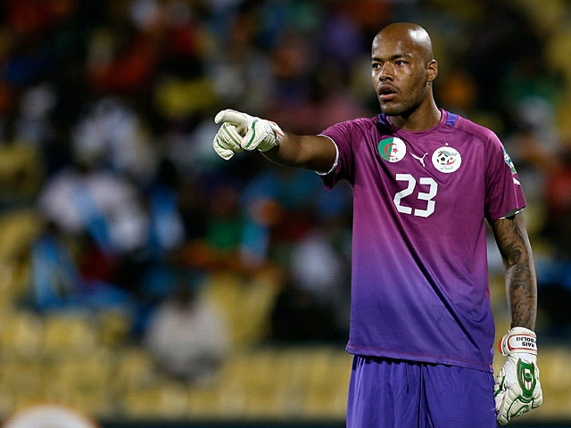 Algeria's goalkeeper Adi Rais Mbolhi in action during the Africa Cup of Nations on January 30, 2013