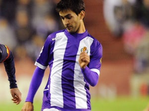 Real Valladolid's Alberto Bueno during the La Liga clash against FC Barcelona on December 22, 2012
