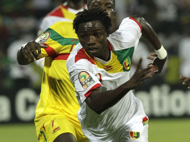 Guinea's Alhassane Bangoura during the African Cup of Nations match againsrt Mali on January 24, 2012
