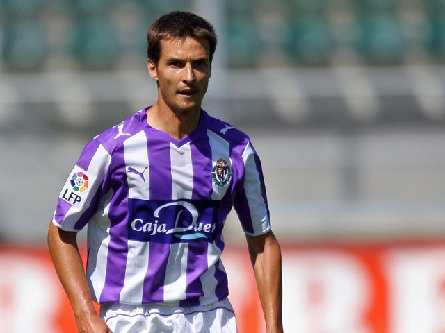 Real Valladolid's Alvaro Rubio during a friendly against Den Hagg on August 10, 2008