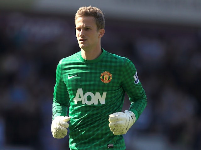 United 'keeper Anders Lindegaard in action against West Brom on May 19, 2013