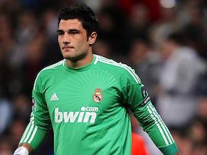 Real Madrid goalkeeper Antonio Adan in action on December 8, 2010