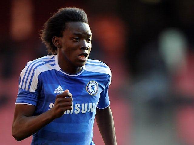 Chelsea's Bertrand Traore in action against Arsenal on October 23, 2011