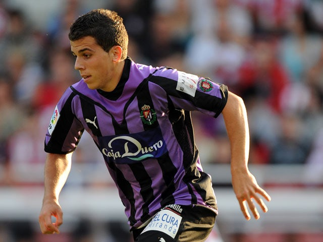 Valladolid's Carlos Lazaro during a friendly match against Stoke City on August 7, 2009