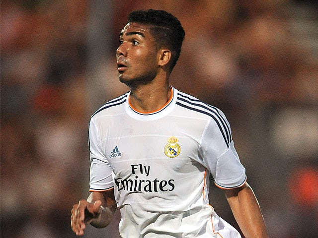 Real Madrid's Casemiro in action on July 21, 2013