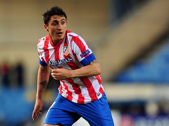 Atletico Madrid's Cristian Rodriguez during the Europa League match against Rubin Kazan on February 14, 2013