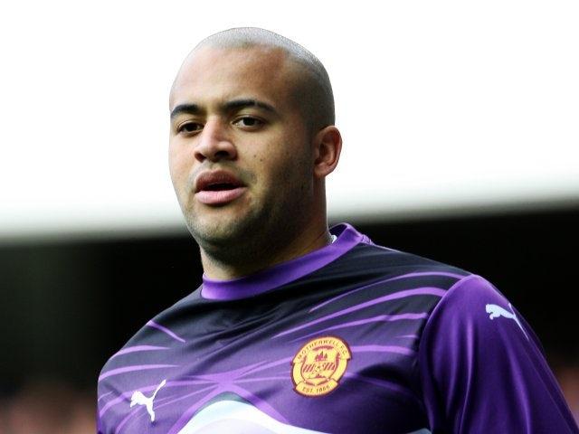 Birmingham City's new goalkeeper Darren Randolph playing for Motherwell.