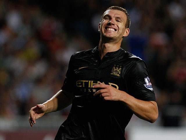 Manchester City's Edin Dzeko during the match against South China FC on July 24, 2013