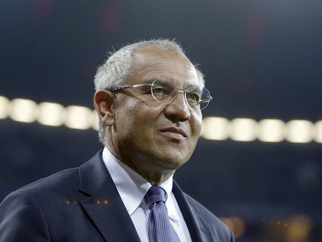 Manager Felix Magath on the touchline on September 25, 2012