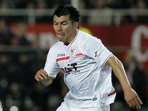 Sevilla's Gary Medel in action on March 13, 2011