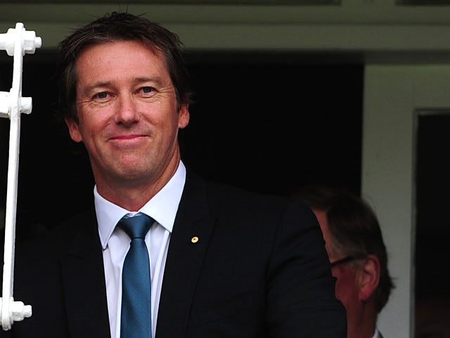 Glenn McGrath at the Second Ashes test at Lords on July 19, 2013