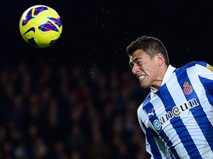 Espanyol's Hector Moreno in action on January 6, 2013