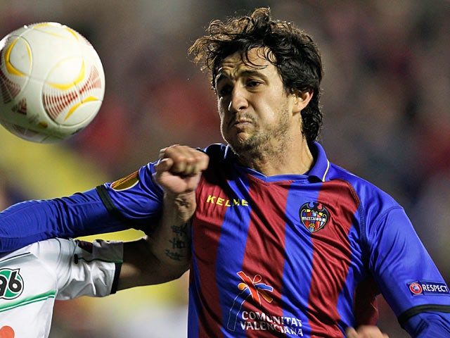 Levante's Hector Rodas in action on December 6, 2012