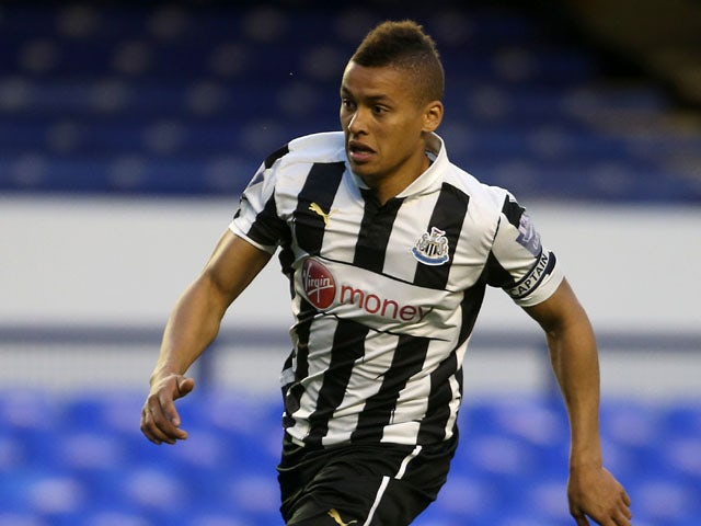 Newcastle United's James Tavernier during a Under 21 match against Everton on May 7, 2013