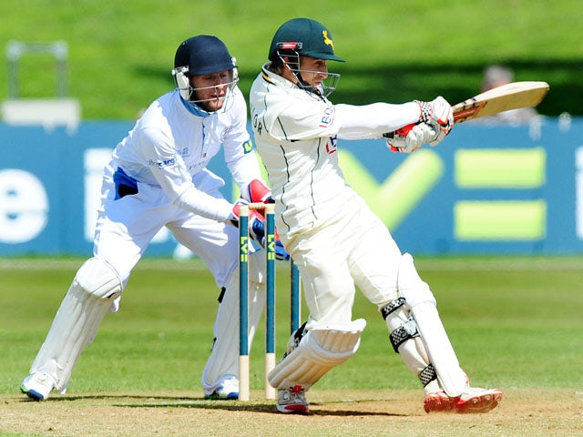 Nottinghamshire's James Taylor during the County Championship match against Derbyshire on April 26, 2013