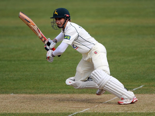 Nottinghamshire's James Taylor during the County Championship match against Middlesex on April 10, 2013