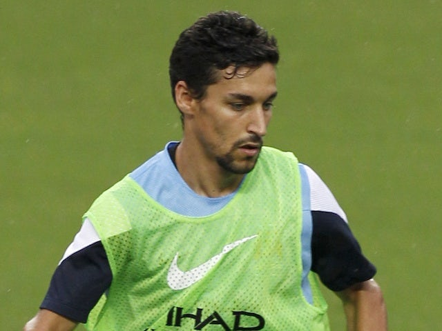 Manchester City's Jesus Navas trains with the squad on July 23, 2013