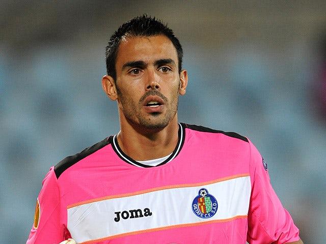 Getafe goalkeeper Jordi Codina in action on September 16, 2010