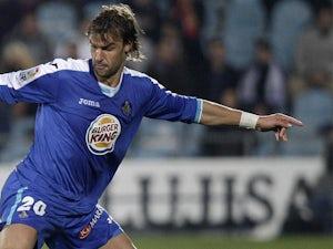 Getafe's Juan Valera in action on November 26, 2011