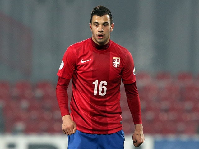 Serbia's Luka Milivojevic during their match against Scotland on March 26, 2013