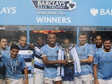 City players celebrating winning the Barclays Asia Trophy on July 27, 2013