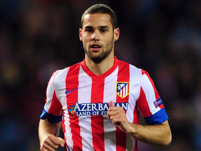 Atletico Madrid's Mario Suarez during a Europa League tie on February 14, 2013
