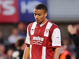Cheltenham Town's Michael Hector in action on May 5, 2013