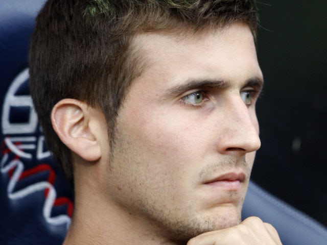 Osasuna's Oier Sanjurjo Mate during a friendly match against Bolton Wanderers on August 8, 2010
