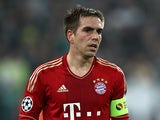 Bayern Munich's Philipp Lahm in action on April 10, 2013