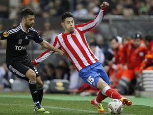 Atletico de Madrid's Pizzi controls the ball during a Europa League match against Besiktas on March 8, 2012