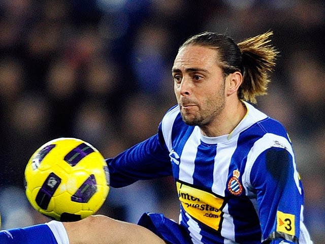 Espanyol's Sergio Garcia in action on January 30, 2011