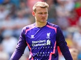 Liverpool goalie Simon Mignolet in action against Preston on July 13, 2013