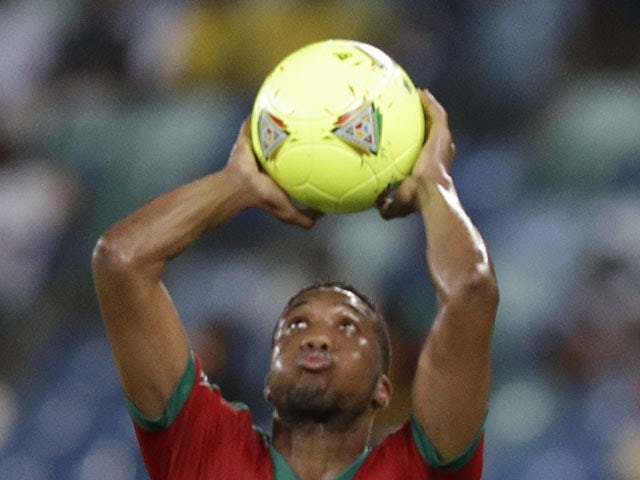 Morocco's Zakarya Bergdich takes a throw in during the African Cup of Nations match against Cape Verde on January 23, 2013