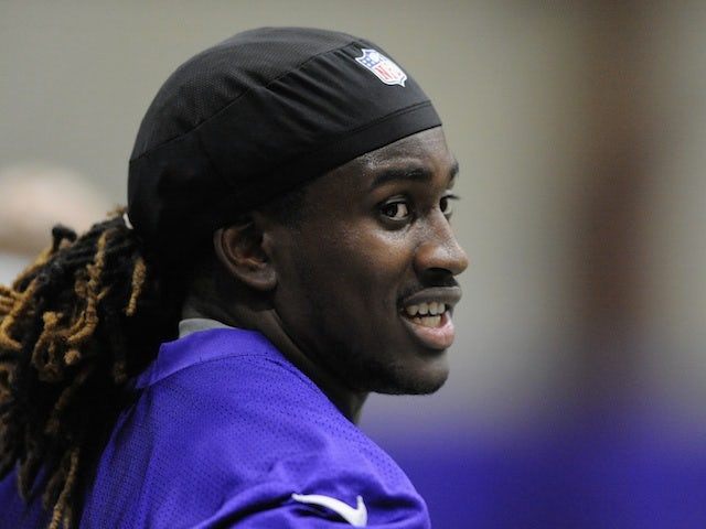 Vikings' Cordarrelle Patterson at training camp on May 3, 2013
