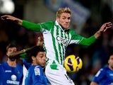 Real Betis' Damien Perquis in action on November 5, 2012