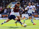 Burnley's Danny Ings scores the opening goal during the match against Bolton on August 3, 2013