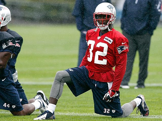 New England Patriots' Devin McCourty during training camp on July 26, 2013